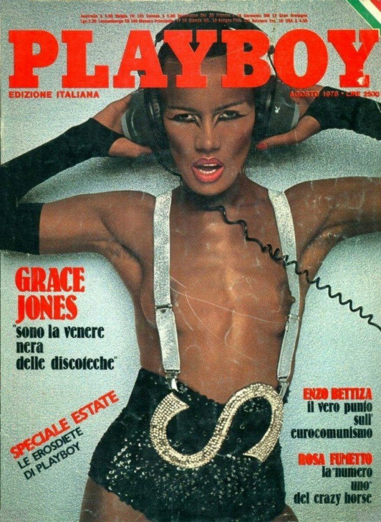 Grace Jones by Francis Ing for Playboy Italia 1978