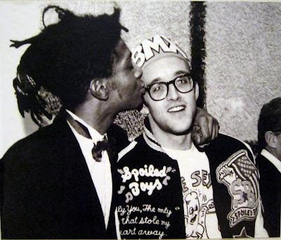 Basquiat e Keith Haring, dois habitués do Danceteria