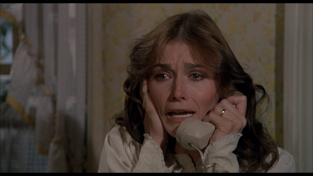 "Margot Kidder in ""The Amityville Horror."" Courtesy of Shout! Factory"