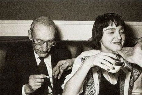 William S. Burroughs e Madonna na Limelight