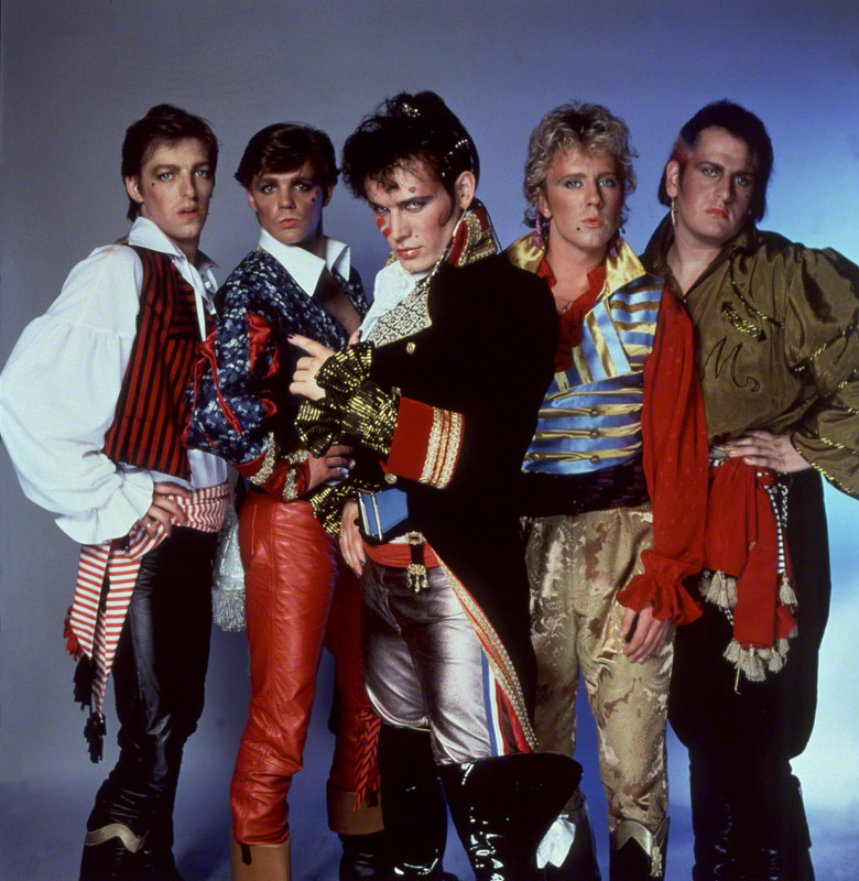 NPG x125374; Adam and the Ants (Merrick (Chris Hughes); Terry Lee Miall; Adam Ant; Gary Tibbs; Marco Pirroni) by Allan Ballard