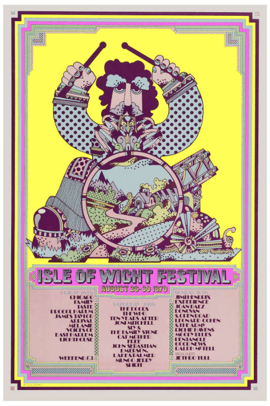 Poster do Festival de Wight de 1970.
